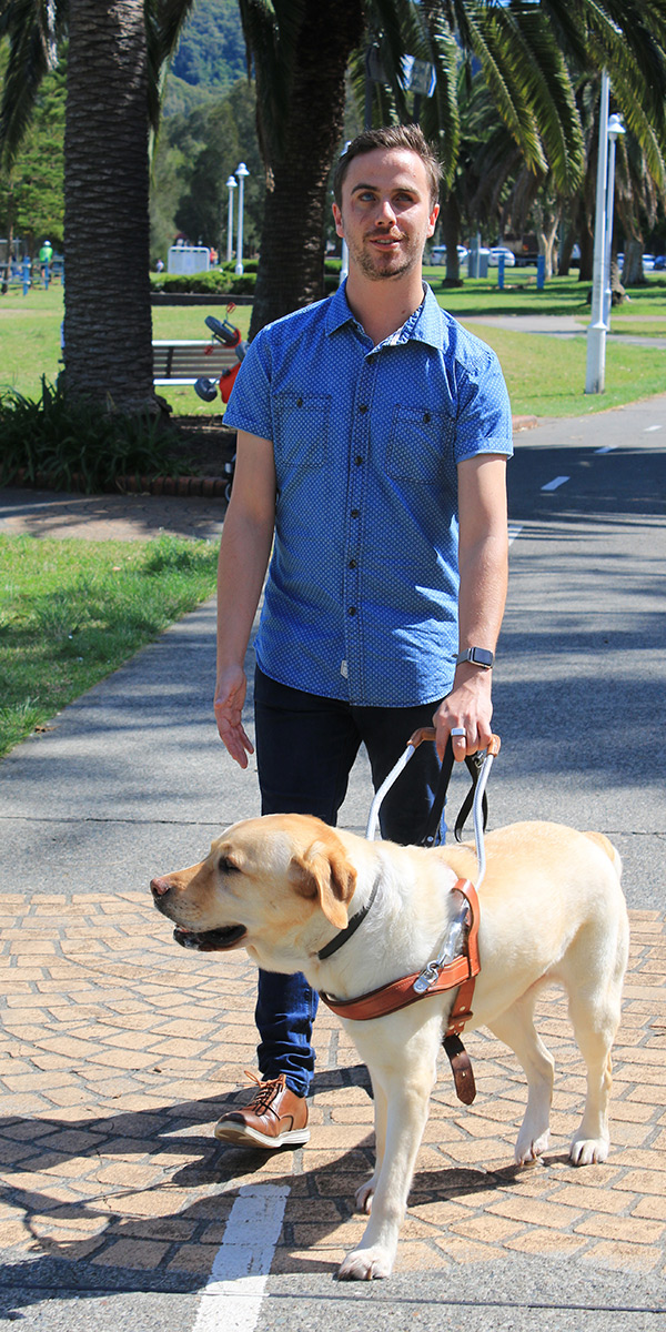 Matt McLaren & his Guide Dog Stamford